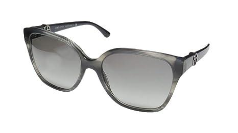 88b2a8ba3453c Giorgio Armani Flared Square Sunglasses in Striped Grey AR8061 520011 56 56  Gradient Grey