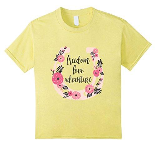 Kids DreamWorks Spirit Riding Free - Pink Horseshoe T-Shirt 6 Lemon