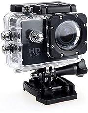 Actie Camera, HD 1080P Actie Camera Waterdichte Camera met 2.0 'scherm Onderwater Cam Waterdicht 30 M, voor Live Streaming Stabilisatie, Zwart