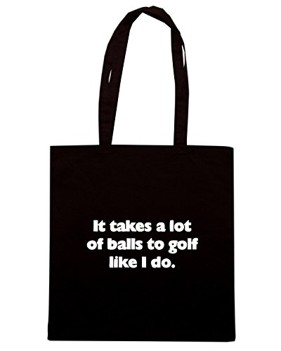 T-Shirtshock - Bolsa para la compra OLDENG00547 it takes a lot of balls to g Negro