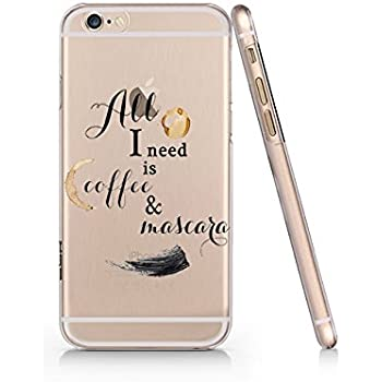b09a6961fe Amazon.com: Ok But First Coffee Slim Iphone 6 6S Case, Clear Iphone ...