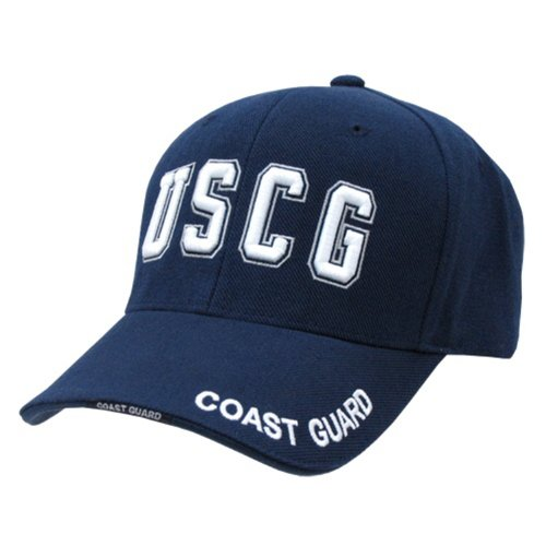 (Rapid Dominance US Coast Guard Text Baseball Ball Cap Hat(Blue, One Size))
