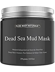 Pure Body Naturals Dead Sea Mud Mask for Face and Body...