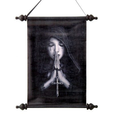 Gothic Prayer Canvas Wall Scroll Tapestry (Prayer Tapestry)