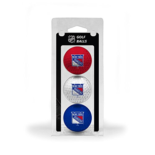 Team Golf NHL New York Rangers Regulation Size Golf Balls, 3 Pack, Full Color Durable Team Imprint