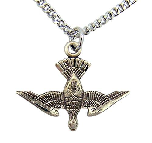 Sterling Silver Holy Spirit Descending Dove Medal Pendant, 1 (Holy Trinity Medal)