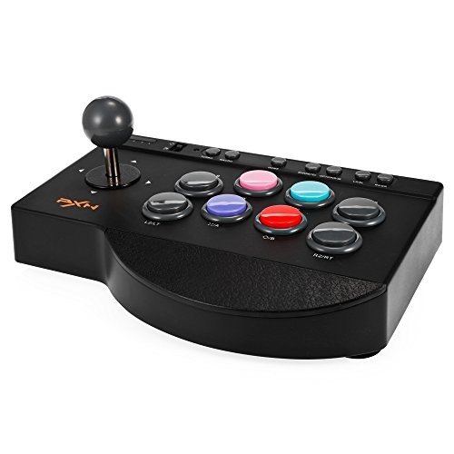 MoPei PXN Arcade Fight Stick, USB Wired Fighting Joystick Game Controller for PS4 / PS3 / Xbox One / PC Fighting Games (Best Ps3 Arcade Stick)