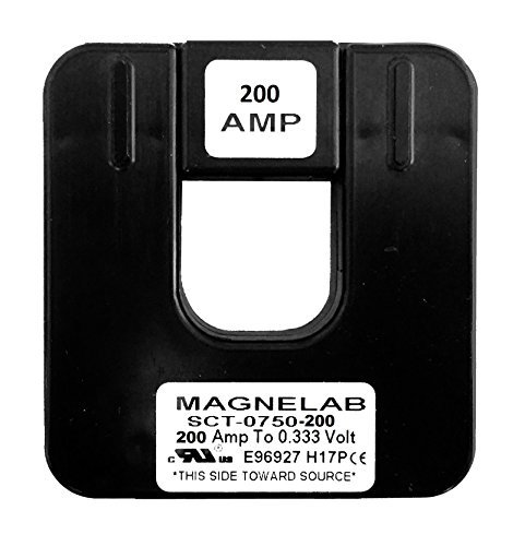 Magnelab SCT-0750-200 Split Core Current Transformer (CT) 0.75'' ID 0.333V Secondary (Output) 200 Amp Primary (Input)