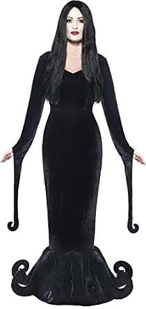 Smiffy's Women's Duchess Of The Manor Costume Full Length Dress with Hem Detail, Black, Small
