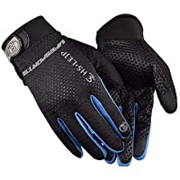 GYM Workout Sport Gloves, Full Palm Protection & Extra Grip for Weight Lifting, Training, Fitness (Blue)