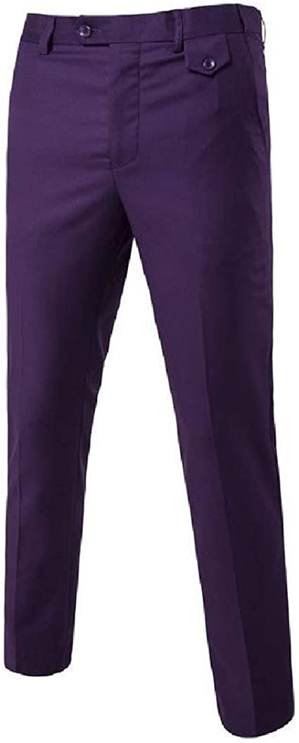 VITryst Mens Casual Wrinkle-Resistant No-Iron Pleated Classic-Fit Golf Pant