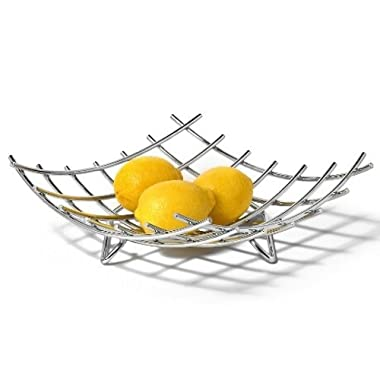 Spectrum Diversified 83070 Dunbar Grid Fruit Bowl, Chrome