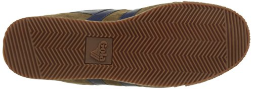 Gola Harrier High Suede, Sneaker Basse Uomo Marrone (Braun (Tobacco/Navy))