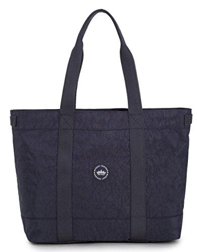 Crest Design Women handbag Tote Shoulder Bag for Laptops up to 17 inch (X-Large, Charcoal)