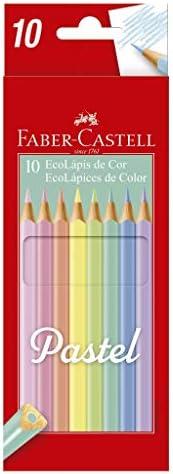 Lápis de Cor, Faber-Castell, EcoLápis Pastel, 120510P, 10 Cores