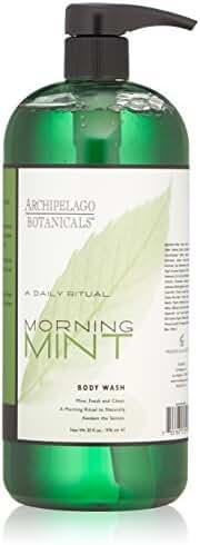 Archipelago Botanicals Morning Mint Body Wash 33 oz