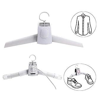 WYFC Perchas De Secado Rápido Portable Eléctrica Secador De Ropa Y Secador De Zapatos con Máquina De Secado De Aire Frío Caliente Y Fresco: Amazon.es: Hogar