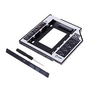 Adaptador caddy para segundo HD ou SSD 9.5mm p/Notebook