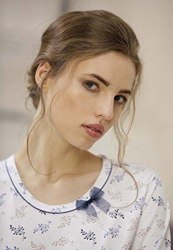 CANA nouvelle - Pijama - para mujer blanco/azul