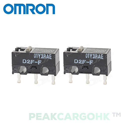 Qty 2 Japan OMRON D2F-F Ultra Subminiature Basic Micro Switch SPDT for RAZER Logitech APPLE MS SteelSeries Mouse