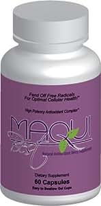 Maqui Best Super Berry Antioxidant - Certified 11,500 ORAC/serving! (1400 mg/serving, 60 capsules/bottle)