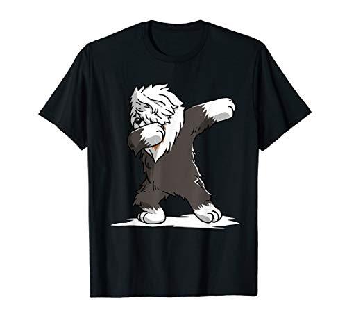 Cute Dabbing Old English Sheepdog Dog T-Shirt Funny Gift