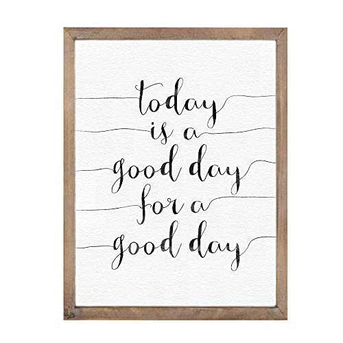 (MODE HOME Today is a good day for a good day Inspirational Wooden Wall Decor Bathroom Signs Vintage Wall Plaque Wall Art Gift For Friend)