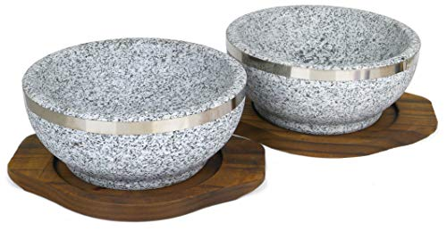 (Spiceberry Home Granite Stone Dolsot Bibimbap Bowls, 32-Oz (Large Personal Size), Set of 2)