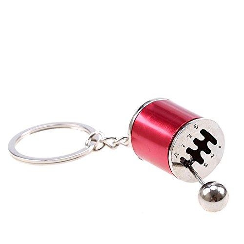 - TunerGear Stick Shift Gear Shift 6-Speed Manual Transmission Keychain Keyring (Red)
