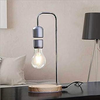 GoYisi Lámparas de escritorio, 16W levitación magnética decoración Tecnología juguete curva flotante LED Bombilla Lámpara de mesa Inicio: Amazon.es: Iluminación