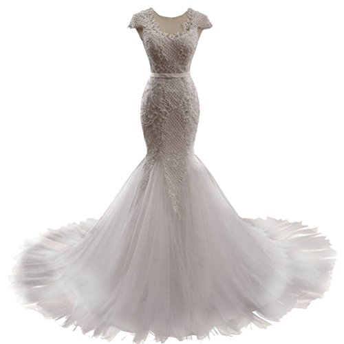 capped wedding dress - 4