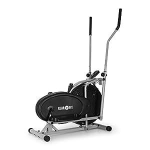 Klarfit ORBIFIT BASIC bicicleta elíptica (para un peso corporal máximo de 100 kg, 135 a 155 cm de altura, 20 kg de peso, con pulsómetro, zancas antideslizantes, pantalla LCD)