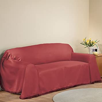 """Amazon.com: New Furniture Throw Covers, Sofa Cover - 70"""" X 140"""", Burgundy: Home & Kitchen"""
