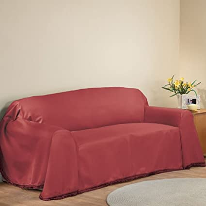 NEW FURNITURE THROW COVERS, Sofa Cover - 70 x 140, Burgundy