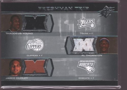 THADDEUS YOUNG JARED DUDLEY AL THORNTON 2007-08 SPX ROOKIE JERSEY PATCH RC $15