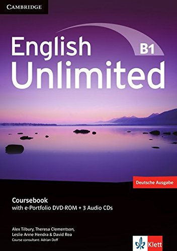 English Unlimited B1: Coursebook with e-Portfolio DVD-ROM + 3 Audio-CDs