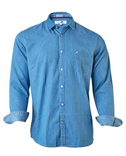 FRANSMAS Light Blue Denim Casual Shirt