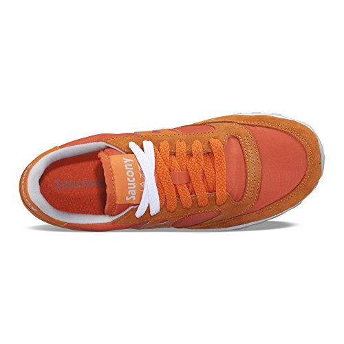 Jazz en Baskets Beige Daim Femme Saucony Chaussures Sneakers Orange Original OnIWYqRqw