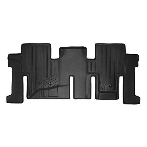 SMARTLINER Custom Fit Floor Mats 2nd Row Liner Black for 2013-2019 Nissan Pathfinder / 2013 Infiniti JX35 / 2014-2019 QX60