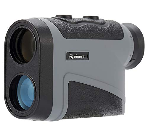 Uineye Golf Rangefinder - Range : 5-1600 Yards, 0.33 Yard Accuracy, Laser Rangefinder with Height, Angle, Horizontal Distance Measurement Perfect for Hunting, Golf, Engineering Survey (Grey)