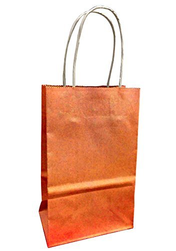 Amazon.com: Pequeño Colorful bolsas de papel kraft con asas ...