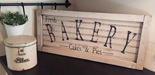 Vintage look and distressed beadboard bakery sign/kitchen/market