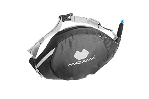 Belt Drink (Mazama Sidestream Go, 1.3 Liter Running Hydration Pack with Retracting Drink Tube)