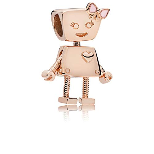 Pukido JEWOEY Shion 2pcs/lot New Accessories Authentic Rose Gold Cute Robot Series Strings Fashion Popular Accessories fit DIY - (Color: Rose Gold)
