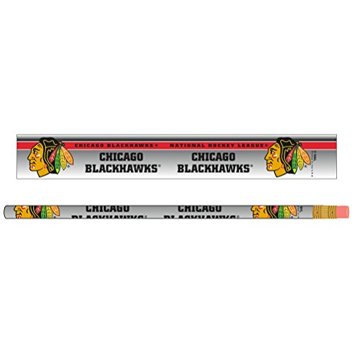NHL Chicago Blackhawks 15862061 Pencil (6 Pack)