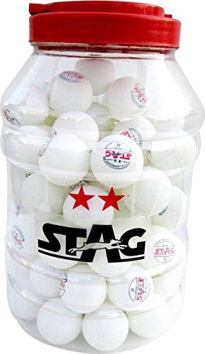 人気が高い  Stag 2つ星プラスチックテーブルピンポンボール(30パック、ホワイト) Stag B07CQ1QS88 B07CQ1QS88, 宗像郡:79e75a2d --- arianechie.dominiotemporario.com