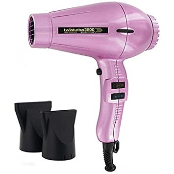 Turbo Power TwinTurbo 3800 Ionic Ceramic Eco-Friendly Professional Hair Dryer Pink