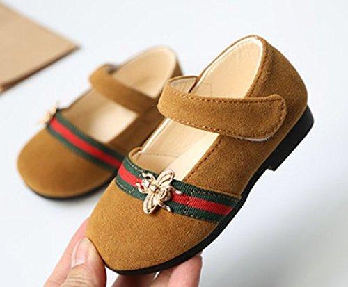 Ohmais Kinder Mädchen flach Freizeit Sandalen Sandaletten Kleinkinder Mädchen Halbschuhe Sandalette Ballerinas Gelb