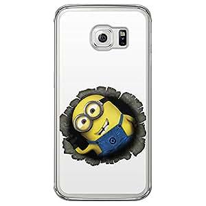 Loud Universe Samsung Galaxy S6 Edge Files Minion 41 Printed Transparent Edge Case - Multi Color