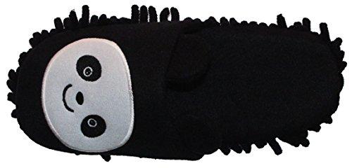 homeideas Mujer peluche Cute Animal Mopa Limpieza Casa Zapatillas, Zapatillas para mujer 8-9 Black/White Panda